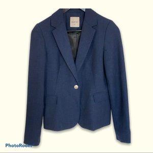 Navy Blue Tweed Blazer